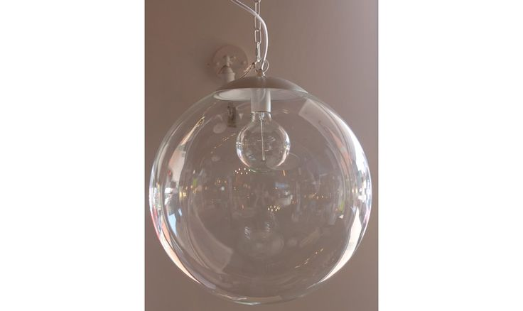 Mr Ralph | Glass Globe Pendant - 50cm - BLACK OR WHITE FITTINGS - ESSENTIALS, Pendants