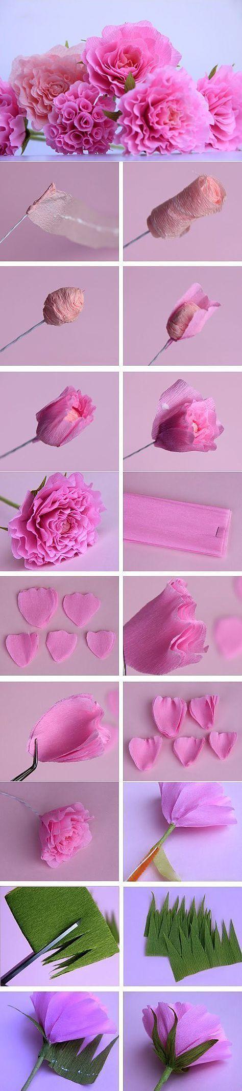 Kwiaty z bibuły tutorial