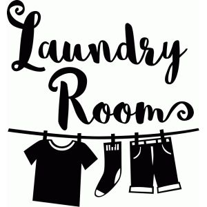 Silhouette Design Store: laundry room vinyl decor