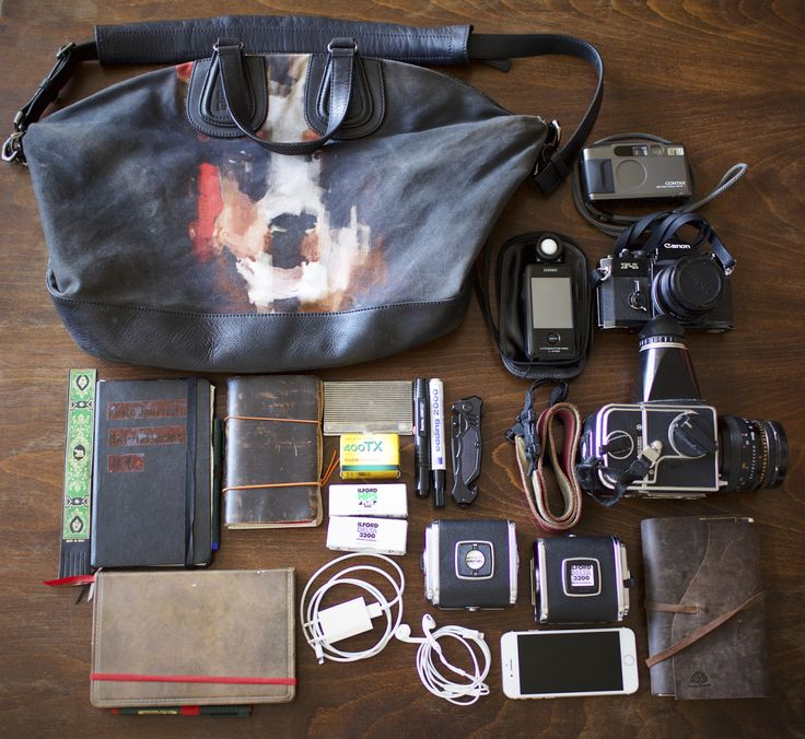 I love being inspired by other people's gear and stuff they use for their photography (inspired by Japan Camera Hunter). Here's mine: Shoulder bag three little notebooks (one schedule, …