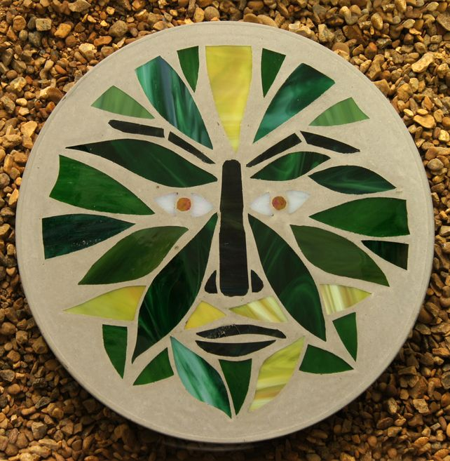 Mosaic Stone Cement : Best images about mosaics green man on pinterest