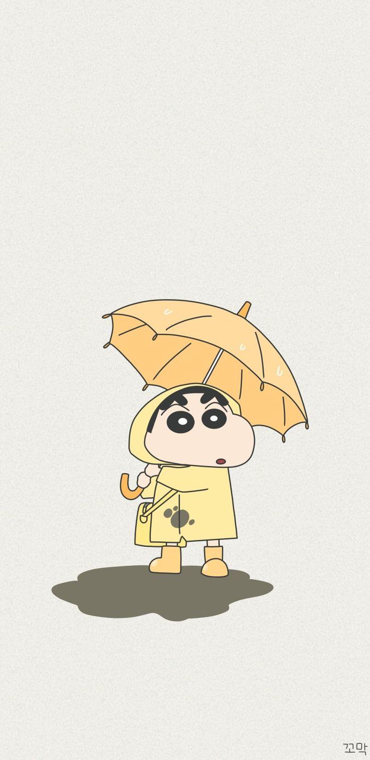 짱구 우산 배경화면 : 네이버 블로그