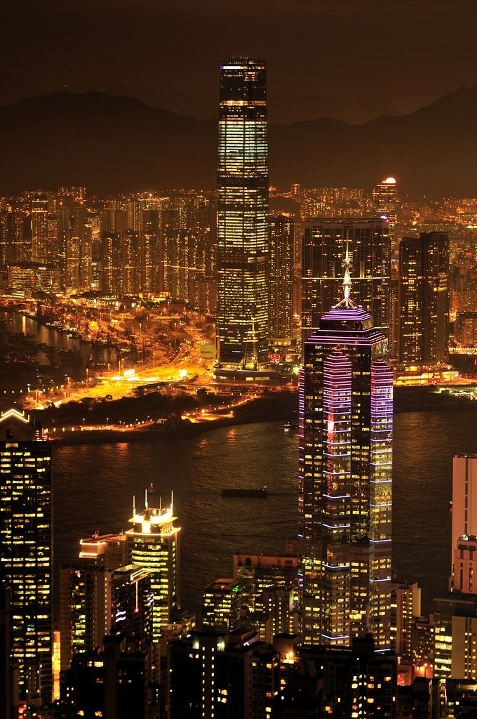 https://flic.kr/p/9nmuGv | Hong Kong Skyline for ICC and IFC at Night _HXT2336 | Night view with Hong Kong International Commerce Center Tower(ICC) and International Financial Centre (IFC)