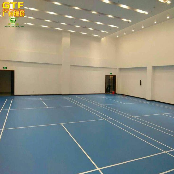 מקורה בדמינטון/ספורט ריצוף PVC Duable מגרש טניס
