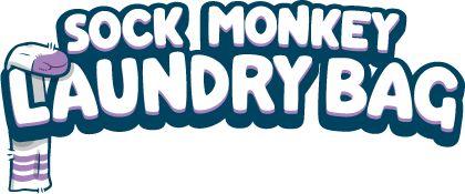 Dirty Sock Monkey : Huggable Sock Monkey Laundry Bag.