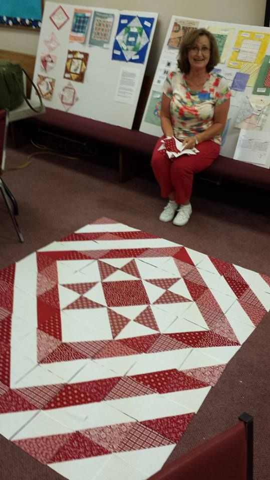 """Half Square triangle quilt.  6"""" finished  squares.  Cut 9 1/2"""" squares for the Missouri Star Way of making HST's."""