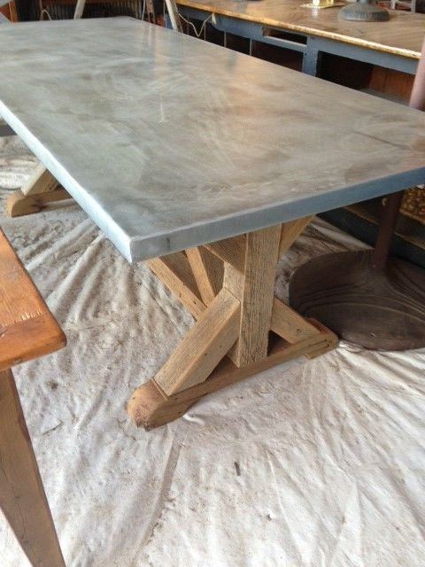 Cedar And Zinc Table Spotted At Round Top, Texas