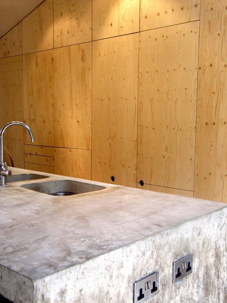 Concrete and Plywood