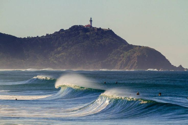 Looking north toward the Byron Bay Lighthouse with perfect crisp winter swells, that riders pray for!