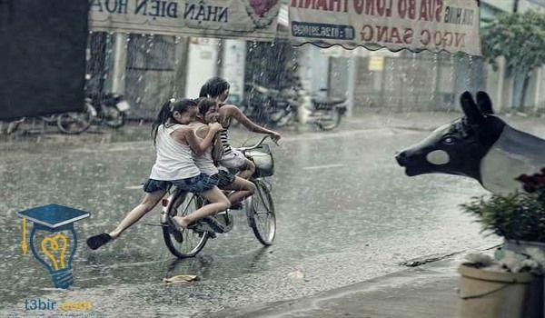 موضوع تعبير عن اطفال الشوارع 4 Biking In The Rain Bikes Girls Riding