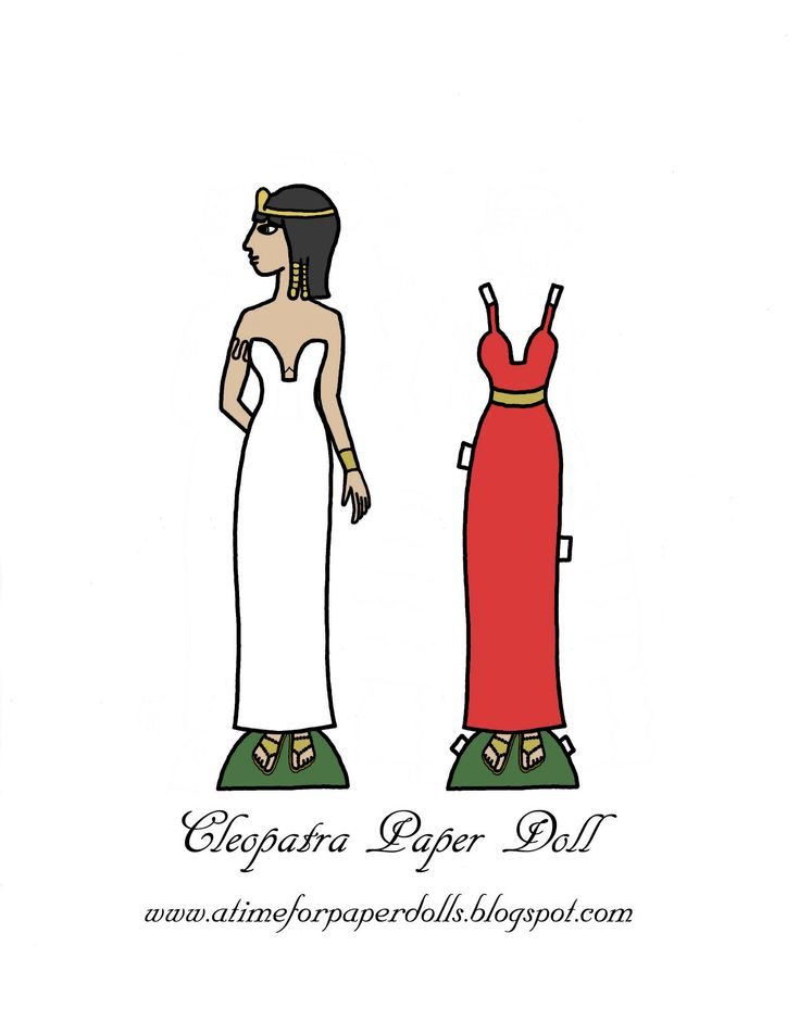 Colored Cleopatra Paper Doll