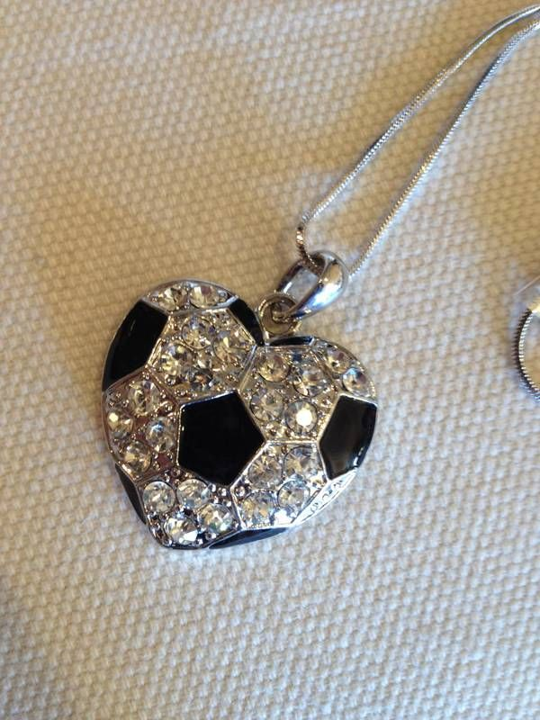 Soccer lovers!!  Let our heart shaped soccer necklace say it all!  Available here at FROM TIPS TO TOES