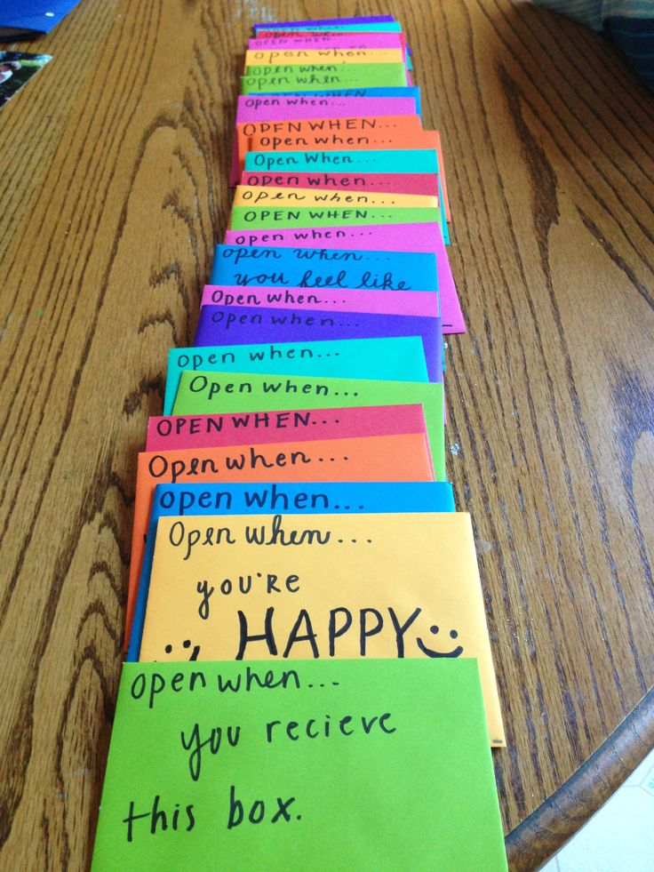 """""""open when"""" letters - what a great idea to do for someone!"""