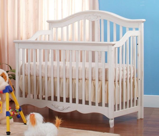 antique baby cribs white color and curtain - Modern Baby Cribs