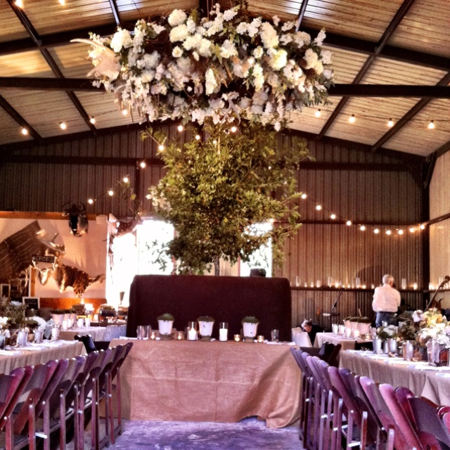 Inside the transformed metal barn! | Wedding and Event ...
