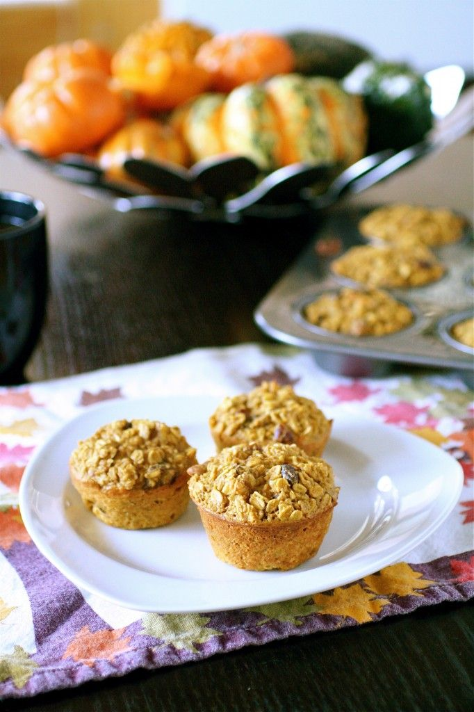 Baked Pumpkin Spice Oatmeal muffins | Cakes, Cupcakes, Muffins and Ic ...