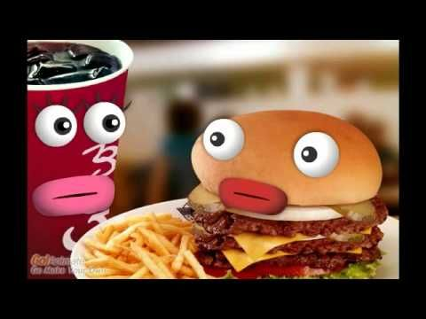 El Refresco y La Hamburguesa-animated video with ser and estar...Are you sad that we are dinner?...lol