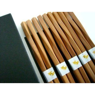 "5 pairs Japanese chopsticks gift sets Twist . $1.85. Spiral Design. Burnished Bamboo. Gift Chopstick Set. A Set of 5 Pairs Chopsticks 9"" Long Chopsticks Made by Natural Bamboo Japanese Bamboo Chopsticks."