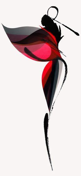 abstract fashion illustration by Tobie Giddio / via www.pinterest.com...