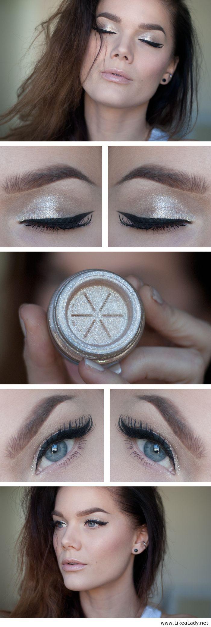 Sliver white makeup