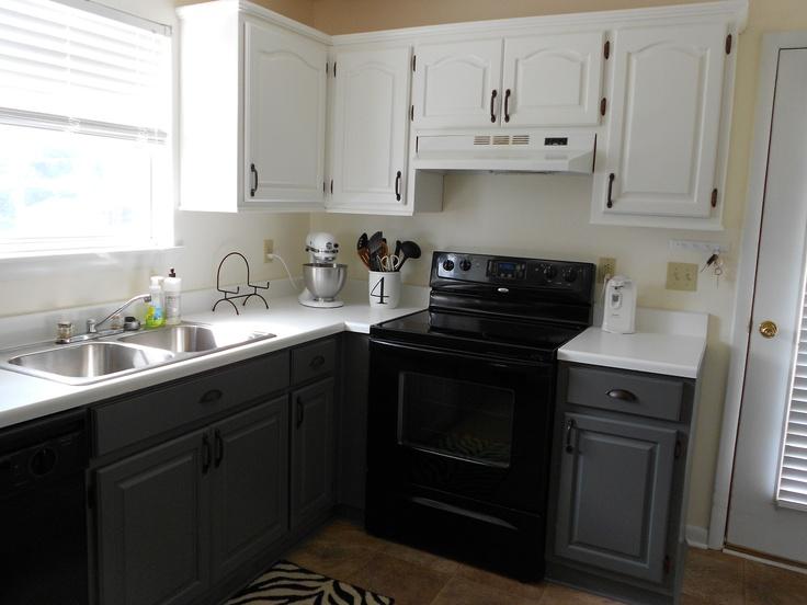 kitchen after benjamin moore amherst gray on bottoms. Black Bedroom Furniture Sets. Home Design Ideas