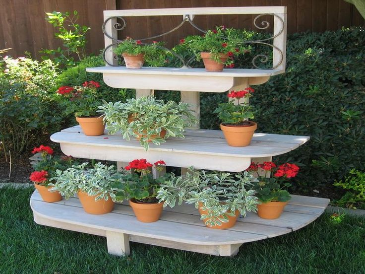 Washed French Inspired 3 Tier Plant Stands Oh My