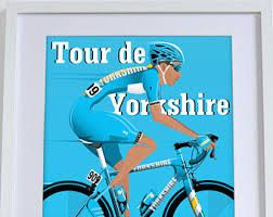 bicycle racing/ cycling race sport posters: Tour de Yorkshire 2016 Bicycle Bike Cycling Poster