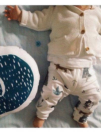 Gambali bambino organici pantaloni bambino, bambino leggins, pantaloni bambino, leggings bambino organici, bosco, volpe, indiano, frecce, bambino organico