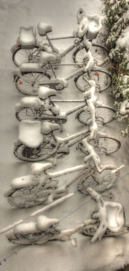Bicycles in Winter, here we go Carrie ;O)