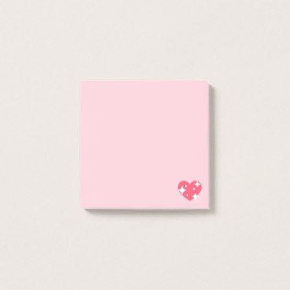 #Sparkling Emoji Heart Post-it Notes - #emoji #emojis #smiley #smilies