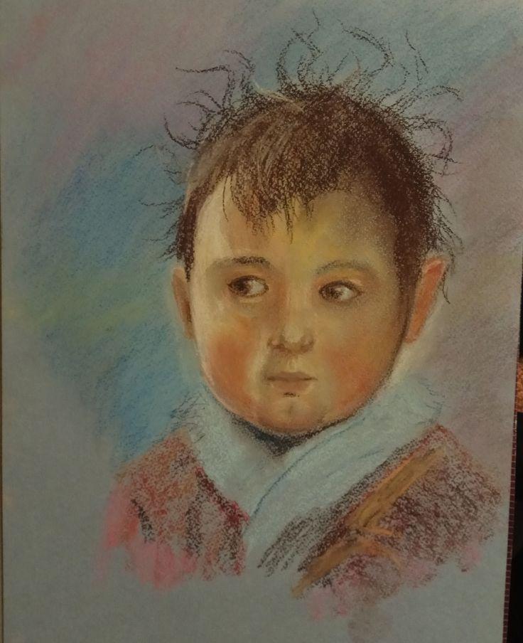 Лохматый малыш, МК Татьяны Артыковой, пастель, 2017