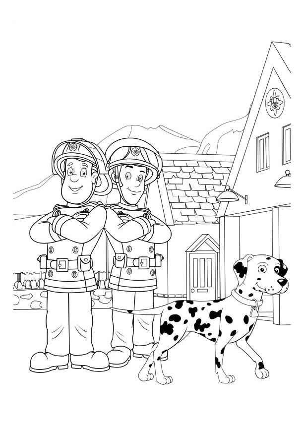 Sam Le Pompier 61 Dessins Animes Coloriages A Imprimer