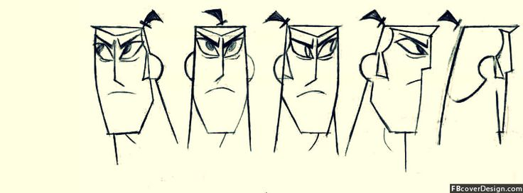 Samurai Jack Angry Face Timeline Covers | fbcoverdesign.com