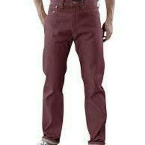 Levi's Men 501 1436 Shrink To Fit Bordeaux Jean 36. Price: $60 Size: 36