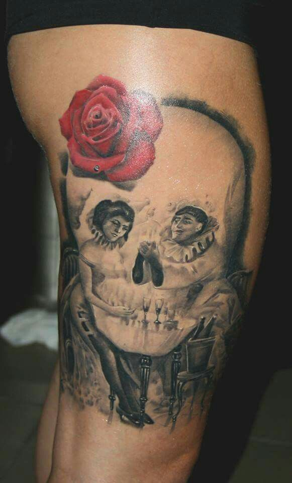 salvador dali skull tattoo images galleries with a bite. Black Bedroom Furniture Sets. Home Design Ideas