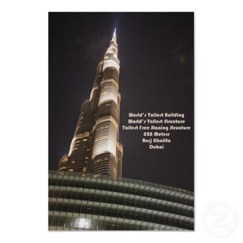 Burj Khalifa, The World's Tallest Building, Dubai Posters