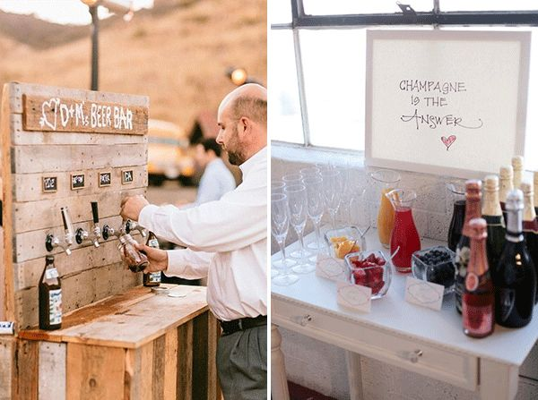 Wedding bar, uno dei nuovi trend del 2015 (e degli anni a venire!): dal quelli a base alcolica, come sangria e champagne, a quelli di dolci, come il waffle bar, il chocolate bar e il pie bar... Non c'è che l'imbarazzo della scelta. Parola d'ordine: originalità!