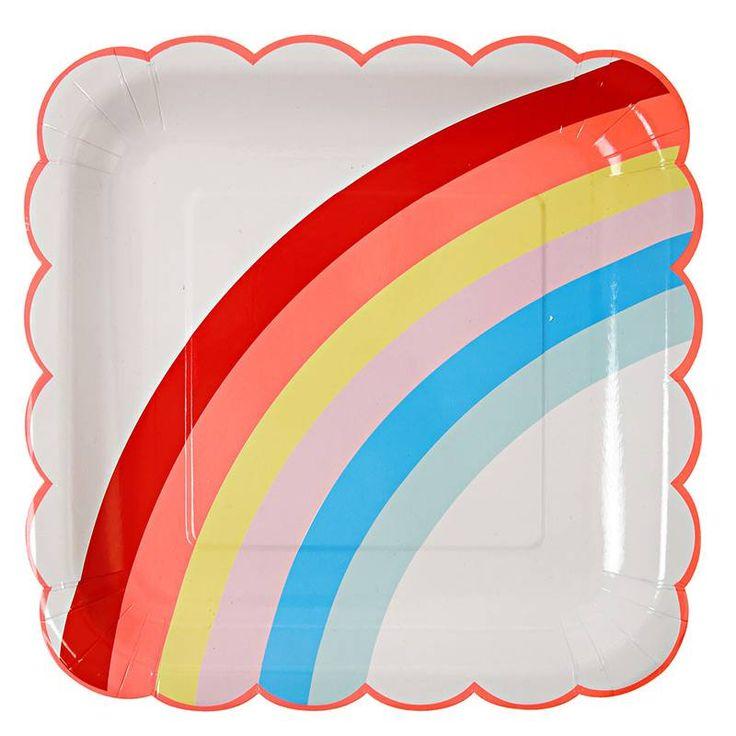 Regenboog Borden van Meri Meri - Feestartikelen voor een (unicorn) regenboogfeestje. Te koop bij Hieppp