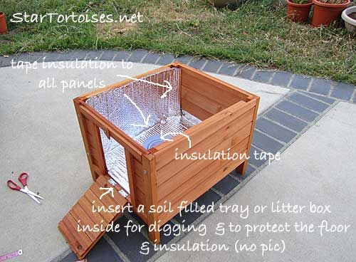 insulating a tortoise house