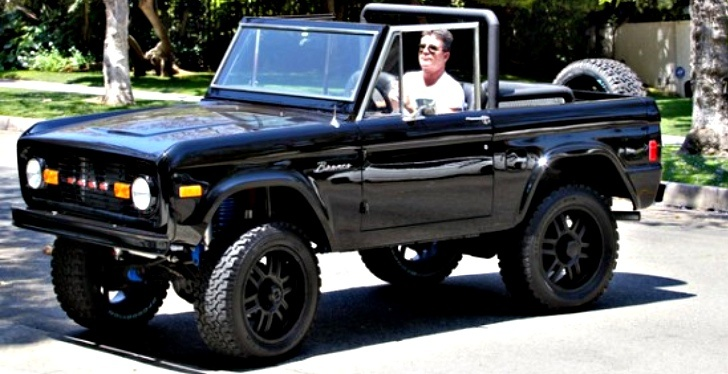 Simon Cowell Seen Cruising In His All Black Ford Bronco
