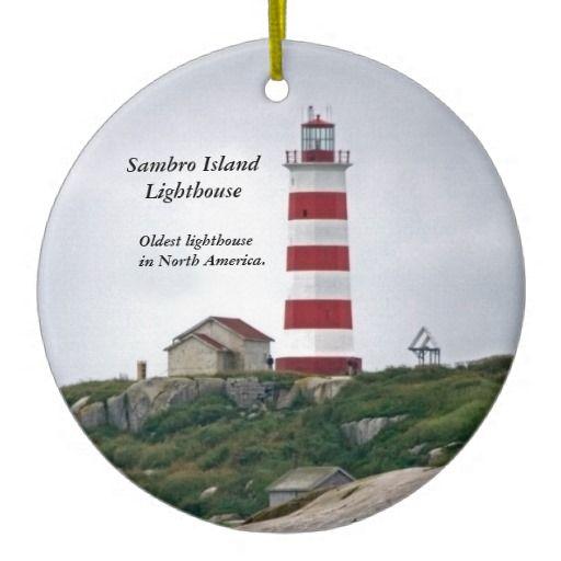 Sambro Island Lighthouse Christmas ornament