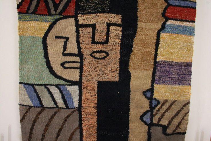 This is an original vintage mid century modern Scandinavian tapestry. Unsigned but similar in style and craftsmanship to the work of Evelyn and Jerome Ackerman, Paul Klee, Bill Hinz, Jean Baron, John Smith, Carlos Merina, etc. In good vintage condition with some mild stains I have not tried to clean. If you want a great abstract tapestry that no one else has hanging in their home, this is the one for you! | eBay!