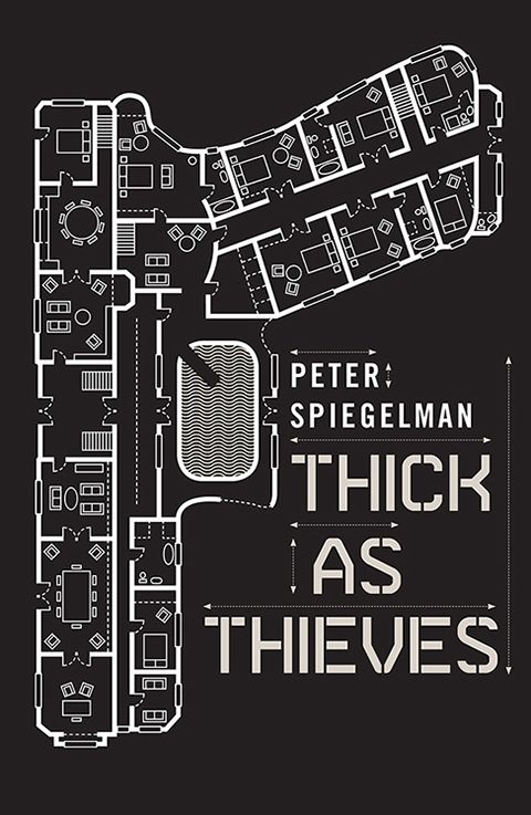 Thick As Thieves by Peter Spiegelman - book cover by Nathan Burton Design