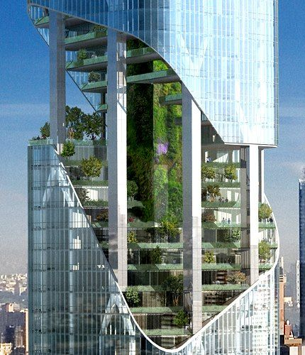Daniel Libeskind's Soaring Green Garden Tower for NYC                                                                                                                                                                                 More