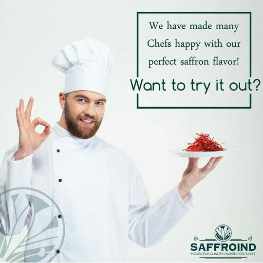 We have made many Chefs happy with our perfect flavor saffron. Want to try it out? Order online with us today: http://www.saffroind.com/product/saffrononline-cod-avail/ #chefschoice #chef #cheftips #ChefTip #chefs #cheflife #cook #cookingtips #cookingfun #cooking #recipes #recipeforsweetness #ingredient #saffron #kesar #royal #getitonline  #OrderOnline #doorstepsurprise #onlinestore #onlineshopindo #onlineshopping #buyonline