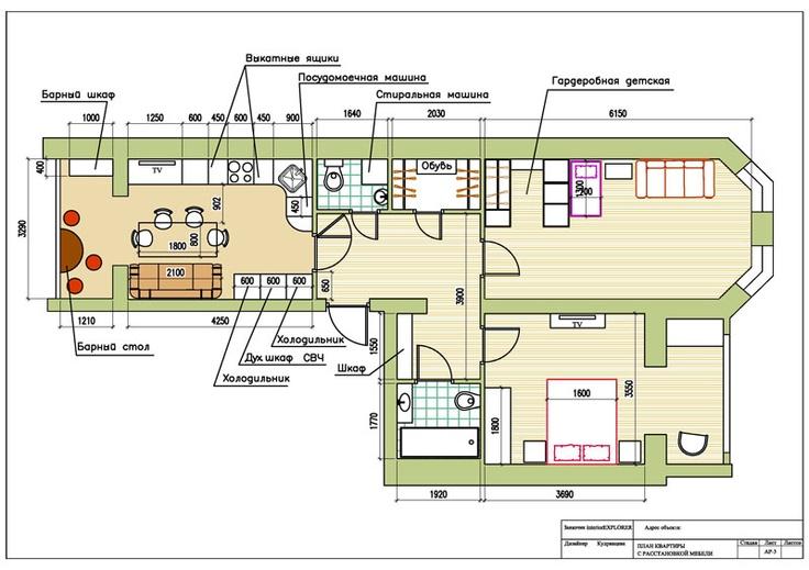 Столешница-подоконник и кухонные двери.