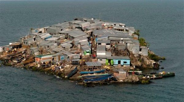 Migingo - The Most Densely Populated Island in the World - http://www.odditycentral.com/travel/migingo-the-most-densely-populated-island-in-the-world.html
