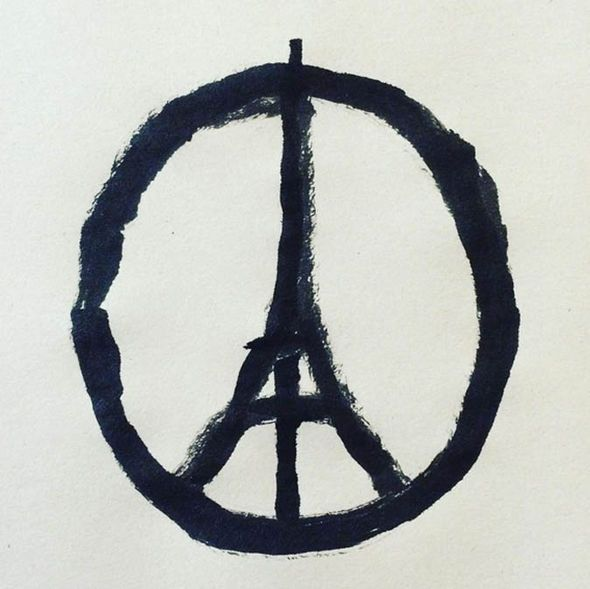 "Paris terror attacks: Eiffel Tower peace symbol goes viral | World | News | Daily Express - The Islamic State (ISIS) have claimed responsibility for the attacks, with French President Francois Hollande describing it as an ""act of war""."