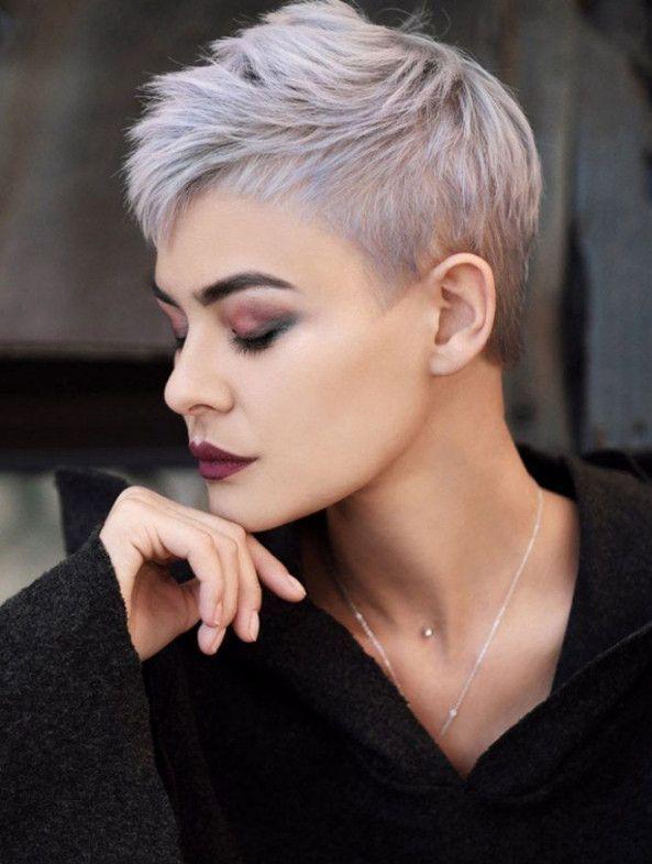 Frisurentrends 2019 Kurz Elegant Frisuren Damen Graue Haare