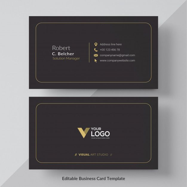 Download Black And Gold Business Card Free Vector For Free Free Business Cards Gold Business Card Black Business Card